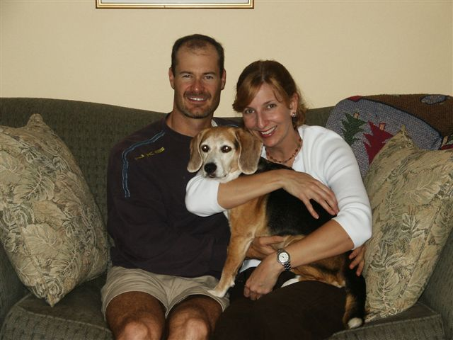 Jackie, her Hubby and Bailey